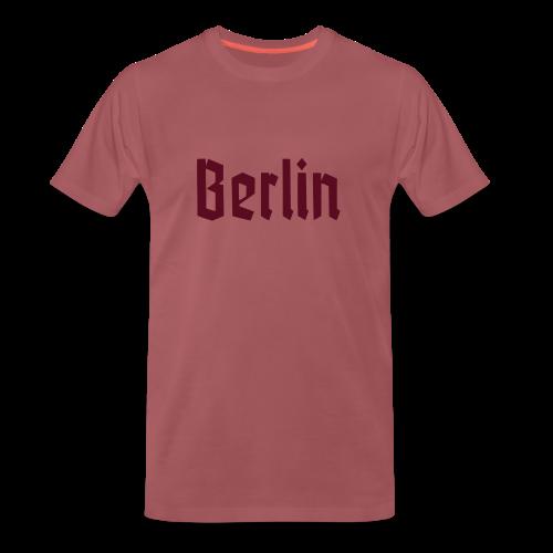 BERLIN Fraktur Berlinschrift - Männer Premium T-Shirt