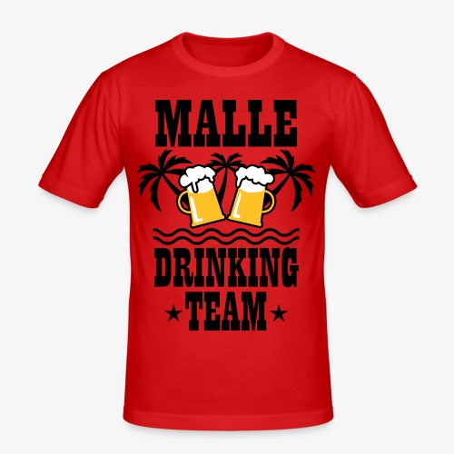 08 Malle Drinking Team Beer Mass Bier Party T-Shirt - Männer Slim Fit T-Shirt