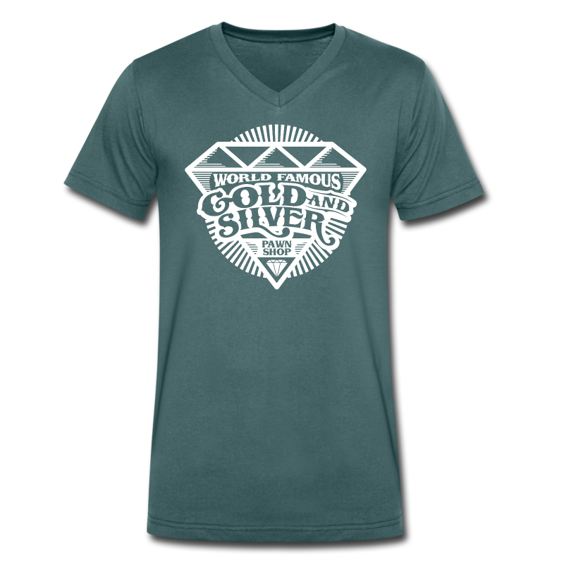 World Famous Gold & Silver Pawn Shop Diamond - Men's Organic V-Neck T-Shirt by Stanley & Stella