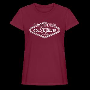 Gold & Silver Pawn Shop Logo à la Las Vegas - Women's Oversize T-Shirt