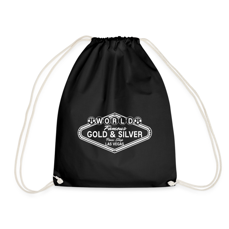 Gold & Silver Pawn Shop Logo à la Las Vegas - Drawstring Bag