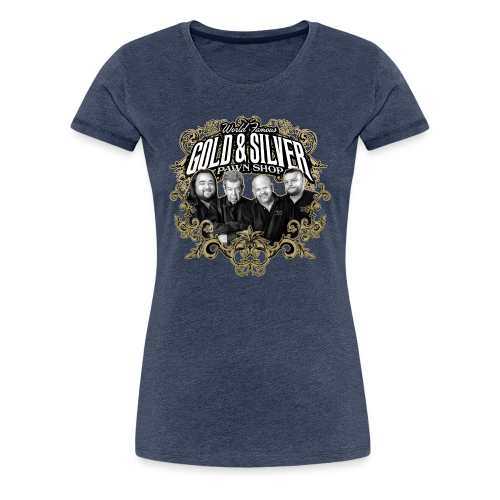 World Famous Gold & Silver Pawn Shop Stars - Women's Premium T-Shirt