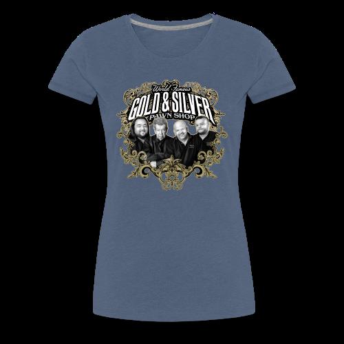 World Famous Gold & Silver Pawn Shop Stars - Women's Premium T-Shirt