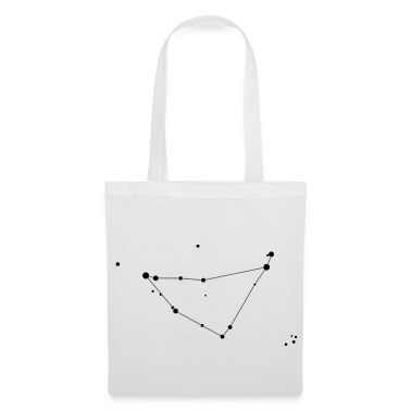 White Capricorn Constellation Bags