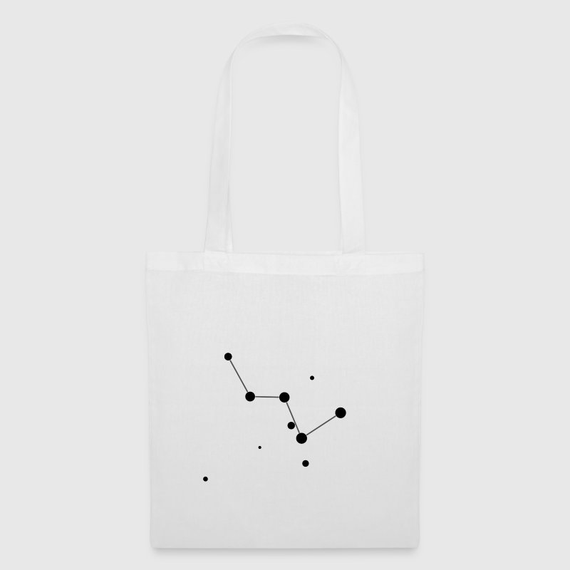 White Cassiopeia Constellation Bags  - Tote Bag