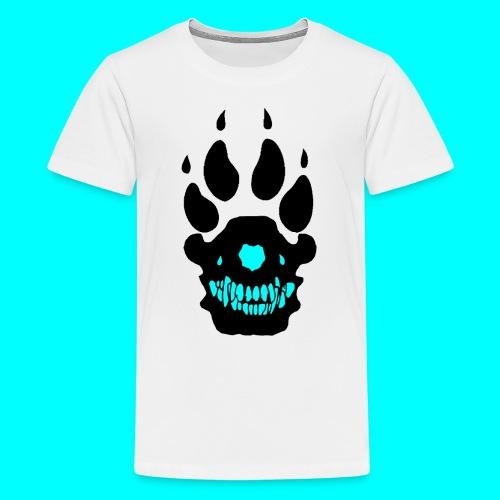 Teinien premium t-paita, Musta/Turkoosi SUSI-LOGO - Teinien premium t-paita