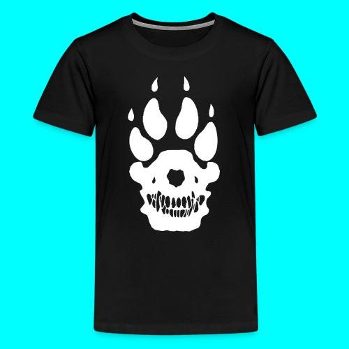 Teinien t-paita, Valkoinen SUSI-LOGO - Teinien premium t-paita