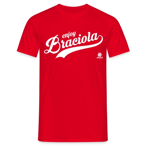 #enjoyBraciola RED - Uomo - Maglietta da uomo