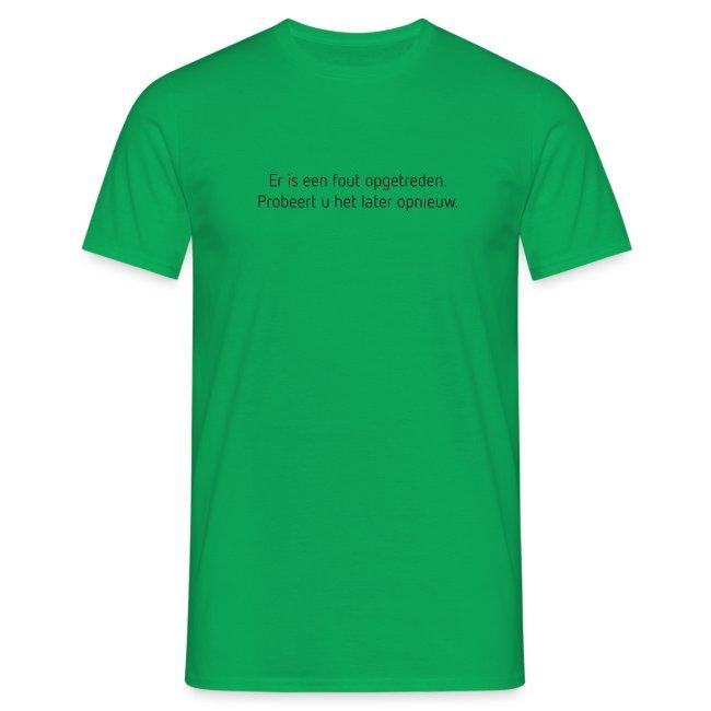 Fout opgetreden mannen t-shirt