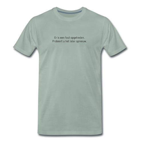 Fout opgetreden mannen premium - Mannen Premium T-shirt