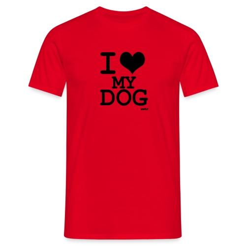 Camiseta I love my dog - Camiseta hombre