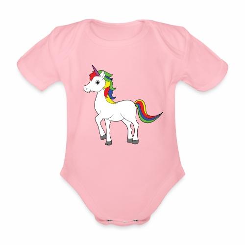 Body Einhorn - Baby Bio-Kurzarm-Body