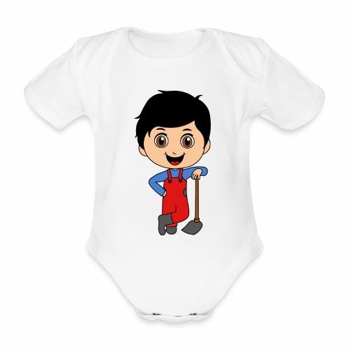 Body Gartenjunge - Baby Bio-Kurzarm-Body
