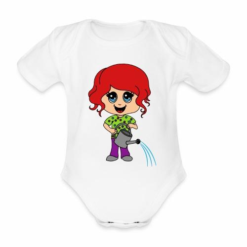 Body Gartenmädchen - Baby Bio-Kurzarm-Body