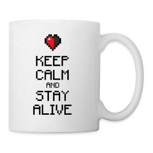 Keep calm and stay alive (dd print) - Tasse