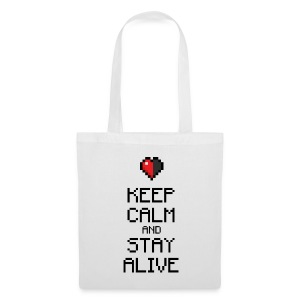 Keep calm and stay alive (dd print) - Stoffbeutel