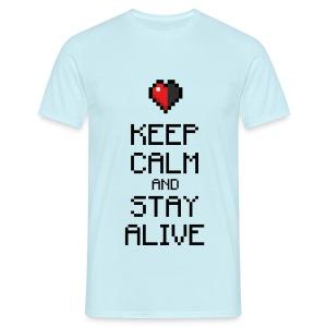 Keep calm and stay alive (dd print) - Männer T-Shirt