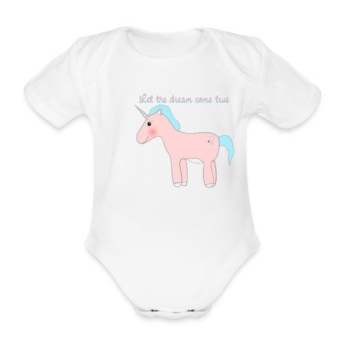 Jednorożec - body dziecięce  - Ekologiczne body niemowlęce z krótkim rękawem