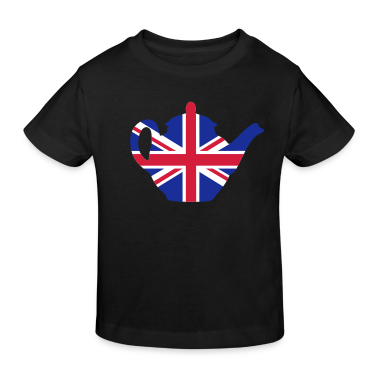 Black British teapot 3clr Kids' Shirts