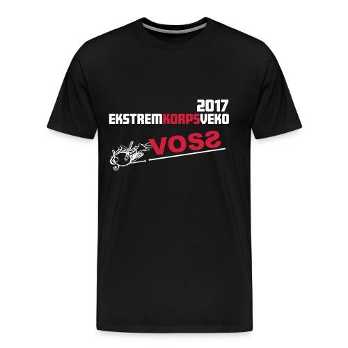 Ekstremkorpsveko på Voss 2017 Herre - Premium T-skjorte for menn