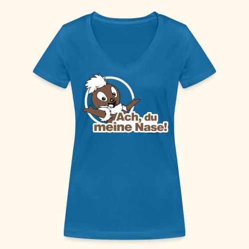Frauen T-Shirt mit V-Ausschnitt Pittiplatsch Ach, du meine Nase! - Frauen Bio-T-Shirt mit V-Ausschnitt von Stanley & Stella