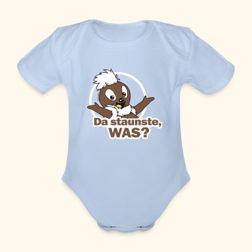 Baby Bio-Kurzarm-Body Pittiplatsch Da staunste 2-farbig - Baby Bio-Kurzarm-Body