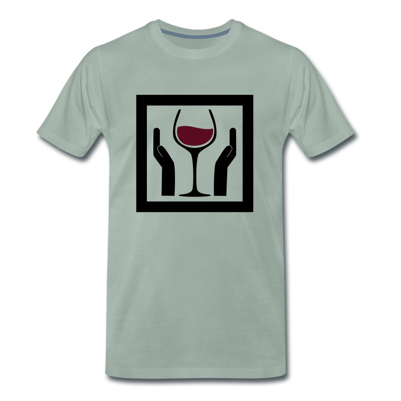 Wine with Care! - Männer Premium T-Shirt