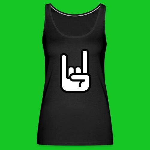 Rock Hand Symbool dames t-shirt - Vrouwen Premium tank top