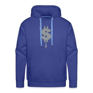 Dollar Teufel (Flockdruck) - Männer Premium Hoodie