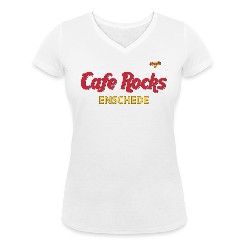 Rockin' Hard Cafe (Ladies) - Vrouwen bio T-shirt met V-hals van Stanley & Stella