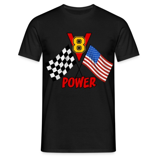 v8 power - Men's T-Shirt