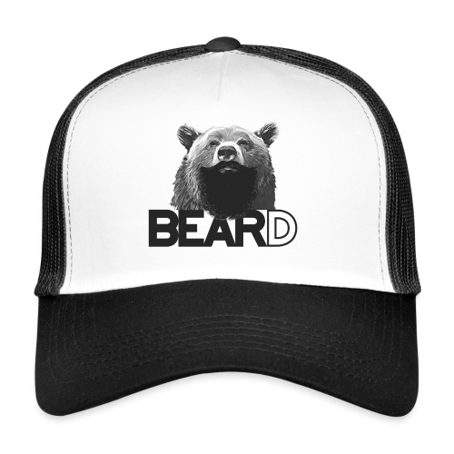 Bear and beard - Trucker Cap