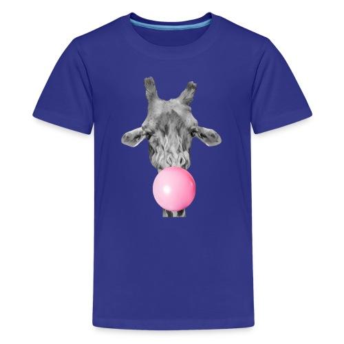 Giraffe bubblegum - Teenage Premium T-Shirt
