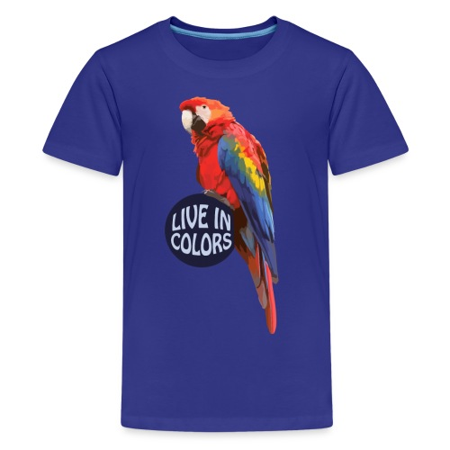 Parrot - Live in colors - Teenage Premium T-Shirt