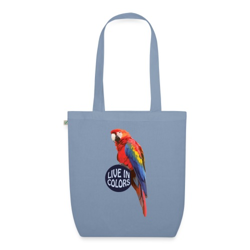 Parrot - Live in colors - EarthPositive Tote Bag