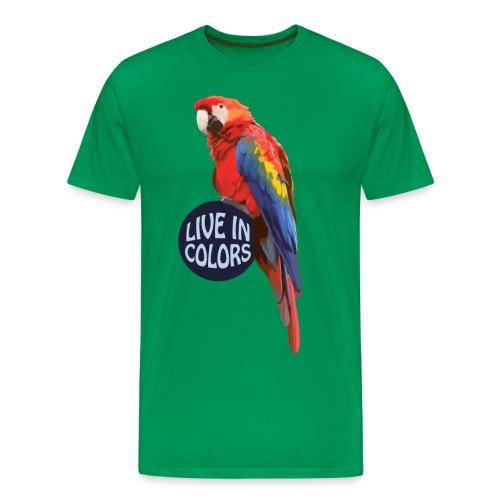 Parrot - Live in colors - Men's Premium T-Shirt