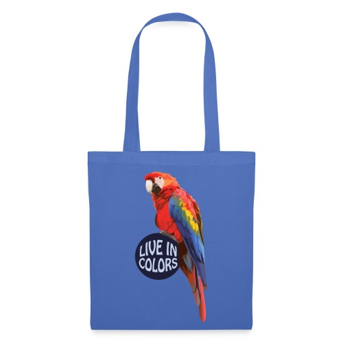 Parrot - Live in colors - Tote Bag