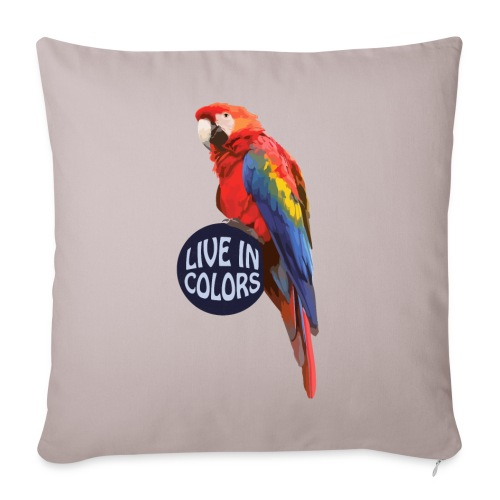 Parrot - Live in colors - Sofa pillowcase 17,3'' x 17,3'' (45 x 45 cm)