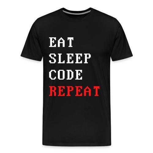 eat sleep code repeat T-Shirts - Männer Premium T-Shirt