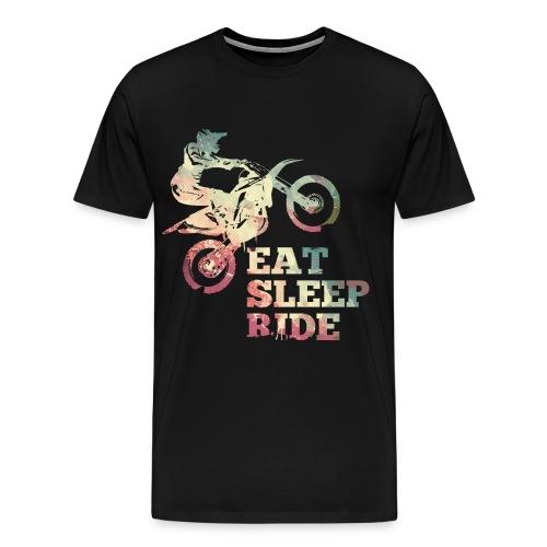 Eat Sleep Ride Dirt Bike T-Shirts - Männer Premium T-Shirt