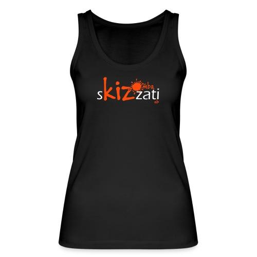 Canotta sKizzati Kizomba donna arancio fluo (logo basso) - Top ecologico da donna di Stanley & Stella
