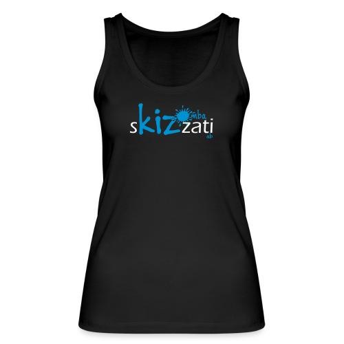 Canotta sKizzati Kizomba donna azzurro (logo basso) - Top ecologico da donna di Stanley & Stella