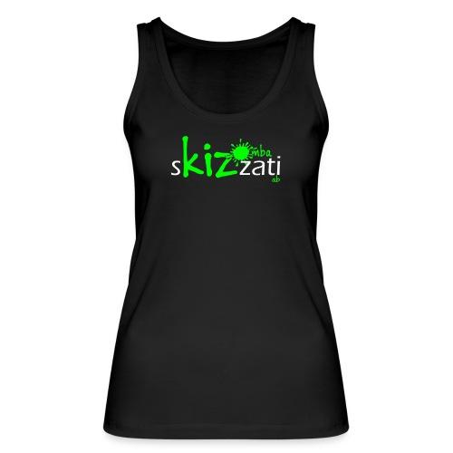 Canotta sKizzati Kizomba donna verde fluo (logo basso) - Top ecologico da donna di Stanley & Stella