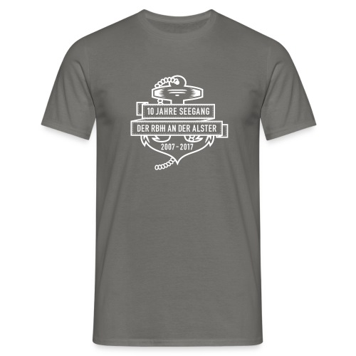 10 Jahre Seegang – T-Shirt Grau - Männer T-Shirt