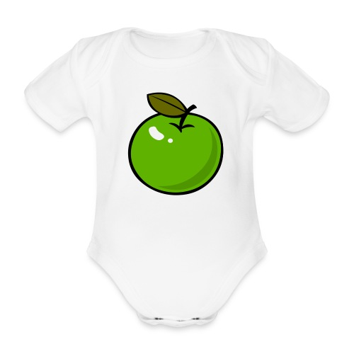Appel - Baby bio-rompertje met korte mouwen