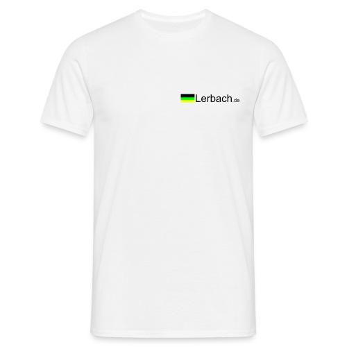 Weiß mit Logo vorn - Männer T-Shirt