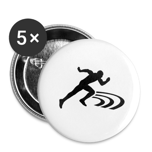 Track and field Badge (32mm) - Badge moyen 32 mm