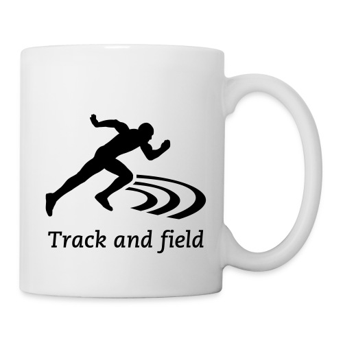 Track and field Badge - Mug blanc