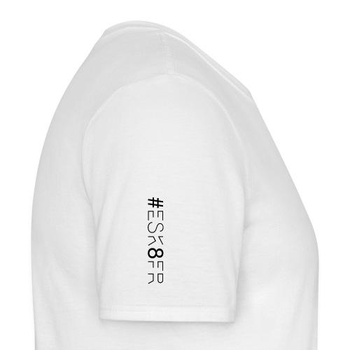 #ESK8FR TRUE - BLACK LETTERS + EPAULE - T-shirt Homme
