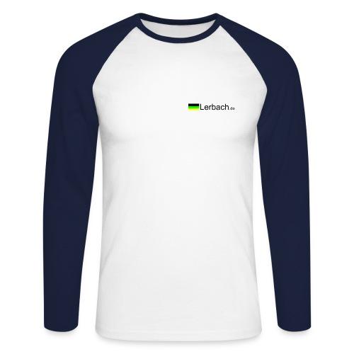 Weiß/Blau mit Logo vorn - Männer Baseballshirt langarm